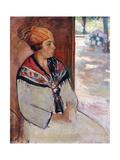 Woman in a Bandana at Prefailles; Femme Au Madras a Prefailles, 1922 Giclee Print by Henri Lebasque