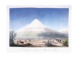 Le Chimborazo Vu Depuis Le Plateau De Tapia, 1810-1814 Giclee Print by Friedrich Alexander