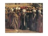 St Mark Preaching in Alexandria, Egypt Giclée-tryk af Gentile Bellini