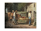 The Birth of a Calf, 1864 Giclee Print by Jean-François Millet