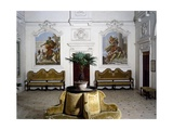 Glimpse of Living Room with Frescoes Giclee Print by Giovanni Battista Tiepolo