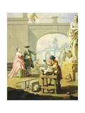 Allegory of Arts, Sculpture, 1751-1752 Giclee Print by Giuseppe Zocchi
