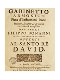 Front Cover of Gabinetto Armonico Giclee Print by Filippo Bonanni