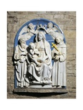 Crowned Virgin and Child with Saints Giclee Print by Luca Della Robbia
