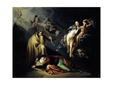 Paolo and Francesca in Hell, Scene from Divine Comedy Giclee Print by Dante Alighieri