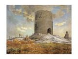 The Tower of Chailly in Barbizon Giclee Print by Jean-François Millet