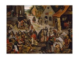 Seven Works of Mercy Giclee Print by Pieter Brueghel the Younger