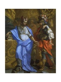The Meeting of Abraham and Melchizedek Giclee Print by Laurent de La Hyre