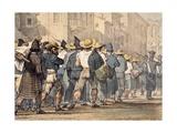 Transfer of Prisoners Giclee Print by Antoine Jean-Baptiste Thomas