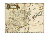 Map of China, from 'Atlas Maior Sive Cosmographia Blaviana', 1662 Giclee Print by Joan Blaeu