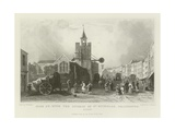 High Street with the Church of St Nicholas, Colchester, Essex Giclee Print by William Henry Bartlett