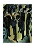 Five Women on the Street Giclee Print by Ernst Ludwig Kirchner