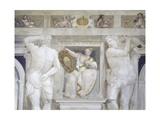 Female Figure Holding Up Muzani Family Crest Giclee Print by Giovanni Antonio Fasolo