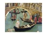 Miracle of Cross at Bridge of San Lorenzo Giclee Print by Gentile Bellini