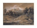 Upland Landscape with Shepherd, Sheep and Cattle, C.1783 Giclee Print by Thomas Gainsborough