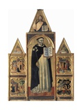 Altarpiece Showing St Dominic and Stories of His Life Giclee Print by Francesco Traini