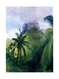 The Peak of Maua Roa, Moorea, Society Islands, 1891 Giclee Print by John La Farge