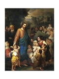 Suffer Little Children to Come Unto Me, 1854 Giclee Print by Juan Urruchi