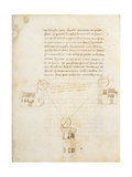 Ludi Matematici: 'Schemas of Triangulation and Drawings' Giclee Print by Leon Battista Alberti
