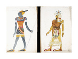 Costume Design for 'Ammoun', Depicting a Nubian Male Dancer Giclee Print by Leon Bakst