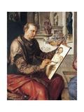 St Luke Painting Virgin Giclee Print by Maerten van Heemskerck