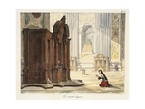 Wand in St Peter's Basilica, 1823 Giclee Print by Antoine Jean-Baptiste Thomas