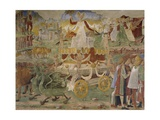 Triumph of Ceres, Scene from Month of August Giclee Print by Cosimo Tura