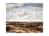 An Extensive Landscape with a Road by a River, 1655 Giclee Print by Phillips de Koninck