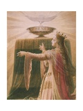The Miracle of the Grail, from the Lohengrin Saga, Salon Giclee Print by Wilhelm Hauschild