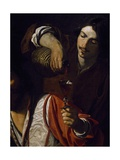 Servant Pouring Wine, Detail of Meeting of Drinkers Giclee Print by Nicolas Tournier