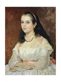 Portrait of Miss Siccoli, 1866 Giclee Print by Giovanni Fattori
