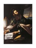 Portrait of St. Augustine of Hippo Giclee Print by  Cecco Del Caravaggio