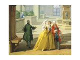 Hours of Day, Afternoon, 1753-1755 Giclee Print by Giuseppe Zocchi