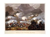 Battle of the Pyrenees, 28th July 1813, Pub. London 1815 Giclee Print by William Heath