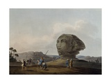 Colossal Head of Sphinx of Giza, Engraving Giclee Print by Luigi Mayer