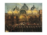 Easter Proceedings in San Marco Giclee Print by Gabriele Bella