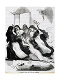 Illustration for Novel Nun or Memoirs of Nun Giclee Print by Denis Diderot