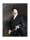 Portrait of Willy, the Writer, Henri Gauthier-Villars Giclee Print by Giovanni Boldini