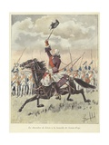 The Chevalier De Levis at the Battle of Sainte-Foy, Quebec, 1760 Giclee Print by Louis Charles Bombled