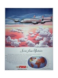 American Advert for Trans World Airline Featuring the Starliner, 1947 Giclee Print