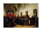 Cabildo in Session, May 22, 1810 Giclee Print by Juan Manuel Blanes