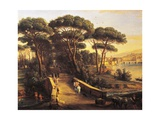 View of Florence's Oltrarno from Cascine Giclee Print by Gaspar van Wittel