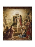 The Temple of the Holy Grail, Lohengrin Mural Cycle Giclee Print by Wilhelm Hauschild