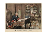 King Frederick the Great of Prussia in His Study at Sanssouci Giclee Print by Richard Knoetel