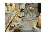 Figures of Monks, Detail from Thebes Giclee Print by Paolo Uccello