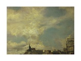 The Sky, Detail from Clichy Square, Paris Giclee Print by Giovanni Boldini