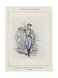Costume De Directeur Des Telegraphes, Le Citoyen Pauvert Giclee Print by Charles Albert d'Arnoux Bertall