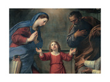 Heavenly and Earthly Trinity with Sts Philip Neri and Thomas Aquinas Giclée-tryk af Francesco Albani