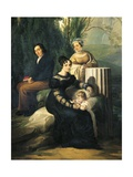 Portrait of Family Stampa Di Soncino Giclee Print by Francesco Hayez