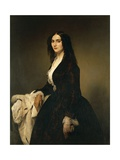 Portrait of Mrs Matilde Juva Branca Giclee Print by Francesco Hayez